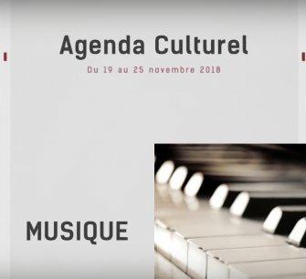 Agenda culturel du 19 au 25 novembre 2018