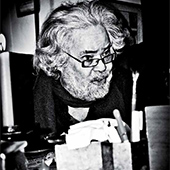 Portrait de Tayeb Saddiki par Oussama Hamama. Circa années 2010