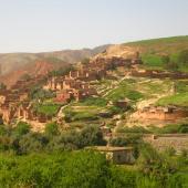 Un pays agropastoral cultures en terrasses dans le Haut-Atlas